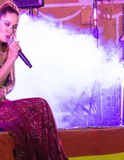 Rosario Mohedano en el escenario de Escalonilla