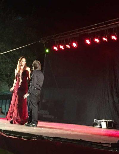 Saulo y Rosario Mohedano en las fiestas de Escalonilla