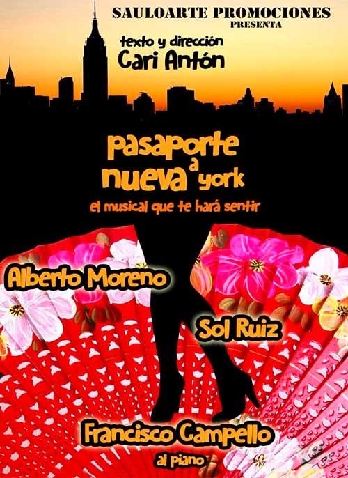 Cartel obra de teatro Pasaporte a Nueva York
